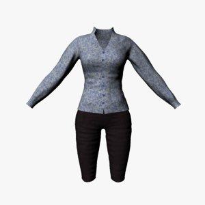 jacket breeches 3d obj