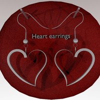 earrings heart 3d model
