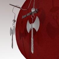 earrings axe 3d model
