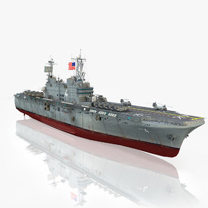 3d model of uss nassau lha-4
