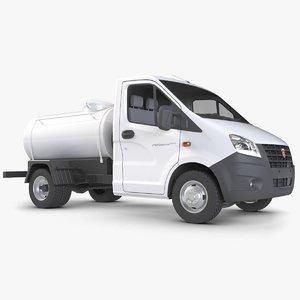3d model truck gazelle tank