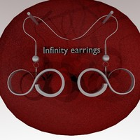 3ds earrings infinity