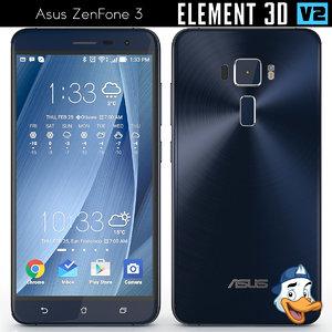 3d model asus zenfone 3 element