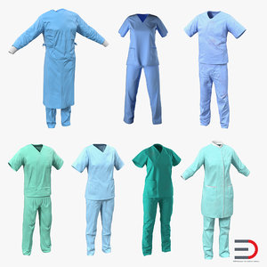 doctor clothing 5 surgeon 3d model