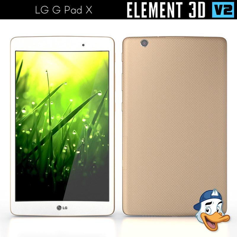 3d lg g pad x model