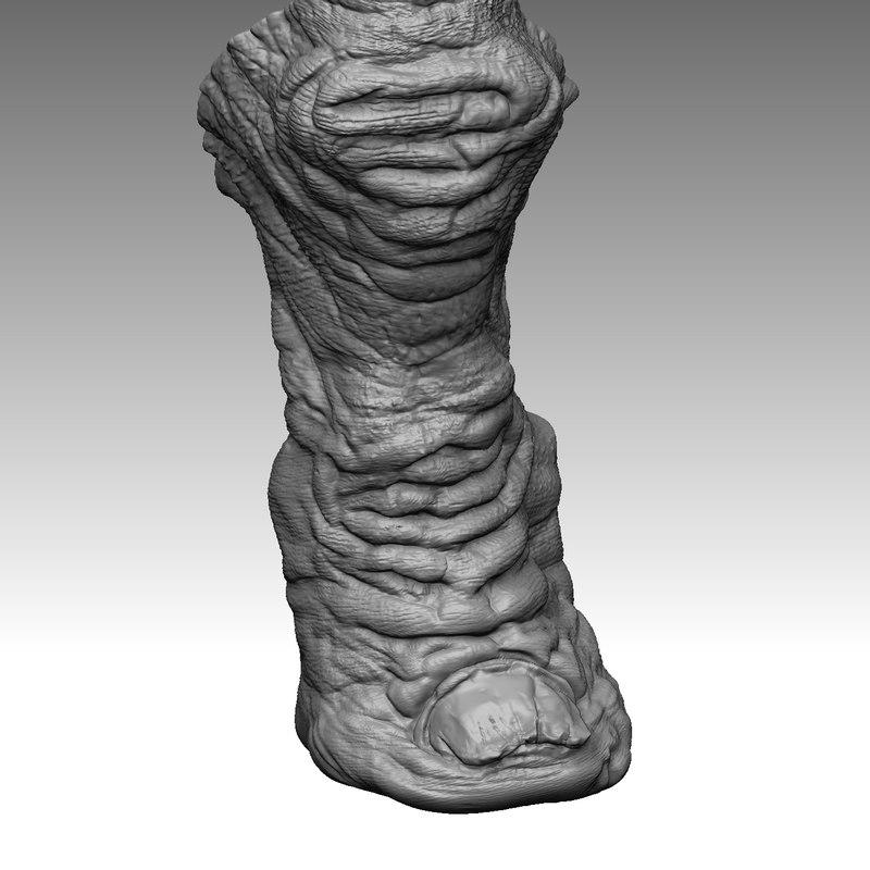 3d monster alien finger 3