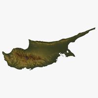 relief cyprus 3d model