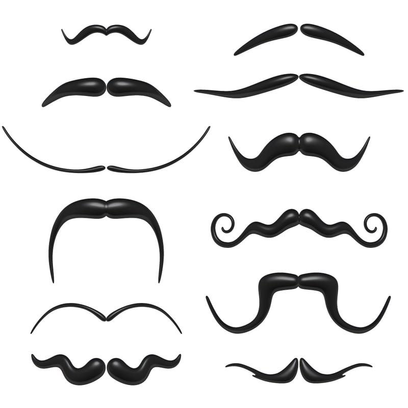 3d moustache colection