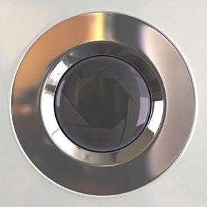 lens opening 3d model