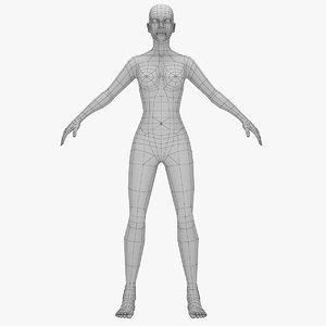 female mesh base 3d model