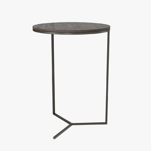 majordome pedestal table y 3ds