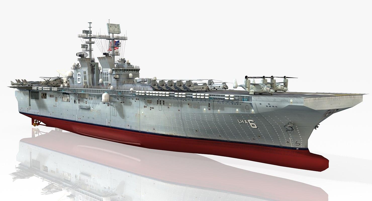 uss america lha-6 3d 3ds