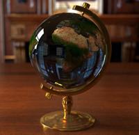 3d cristal earth globe