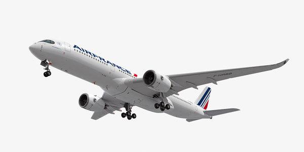 airbus a350-900 plane air france 3d dxf