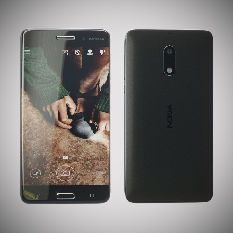 3d model nokia 6 mobile phone