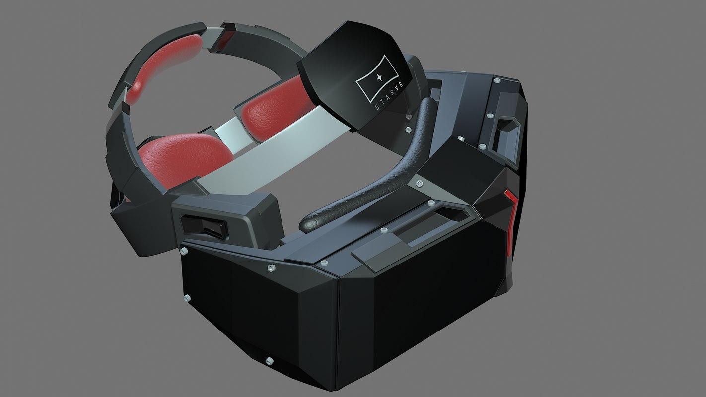 3d headset vr star model