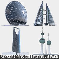 Gulf Buildings Set - 4 Pack
