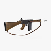 self-loading rifle l1a1 3d model