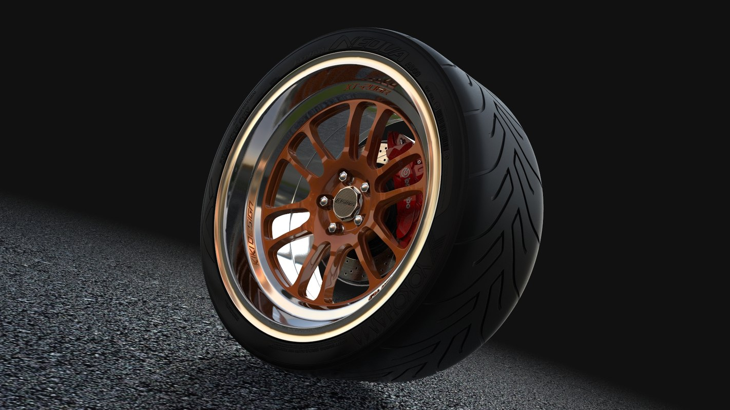 3d model tire support
