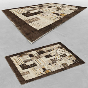 3d wool modern carpet rug model