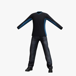 mens clothing 20 3d max
