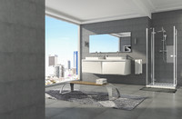 modern grey bathroom 3 illumination sets