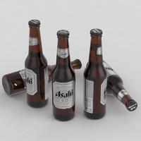 3d max beer bottle asahi