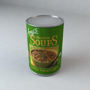 3d c4d amys lentil vegetable soup