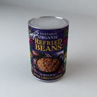 3d model of amy s refried beans