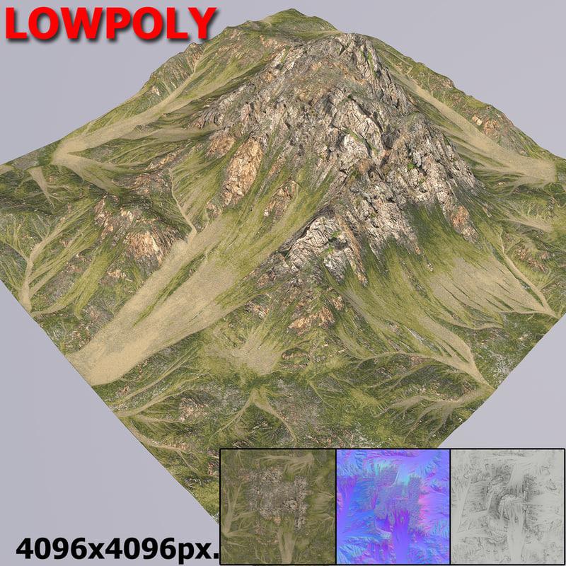 3d model mountain terrain