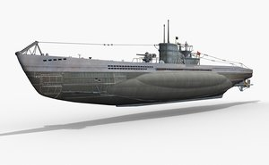 german u-boat type vii 3d max