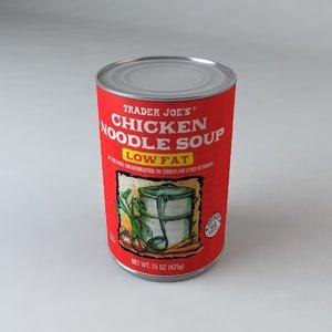 trader joe s chicken 3d model