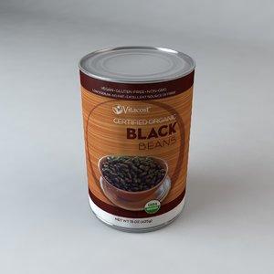 3d model vitacost black beans