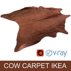 max cowhide rug photorealistic interior