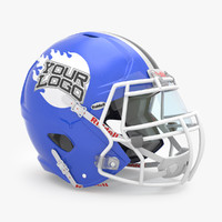 3d model american football helmet riddell