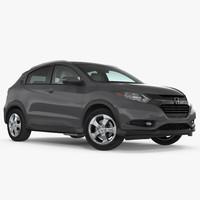 crossover honda hr-v rigged 3d model