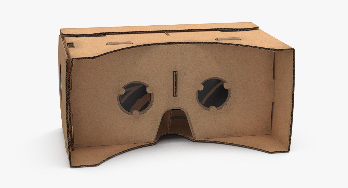 3d max google cardboard vr headset