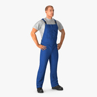 construction worker standing pose 3d max