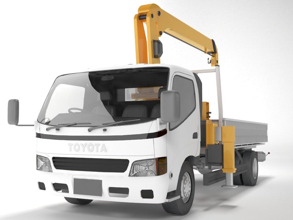3d toyota manipulator truck model