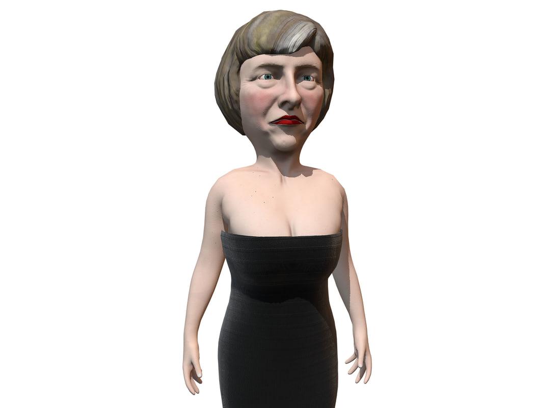 3d model caricature theresa