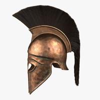 ancient greek corinthian helmet 3d model