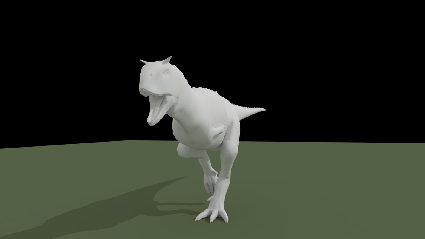 3d carnotaurus dinosaur rigged model