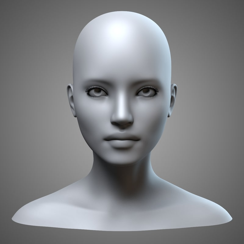 female head obj