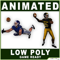 American Football Players Low Poly