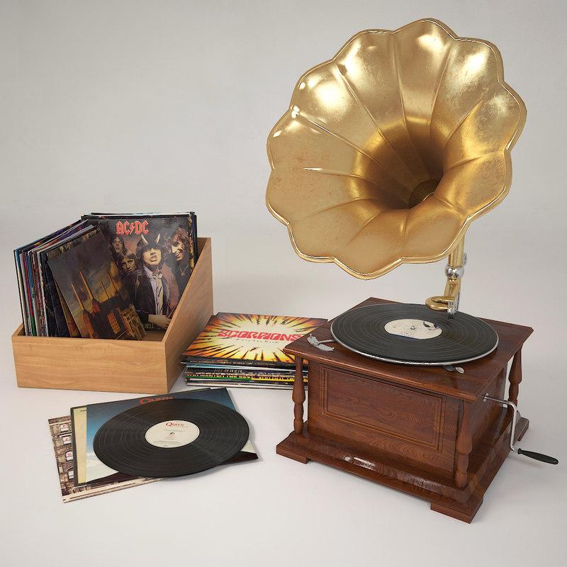 3d gramophone record vinyl