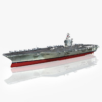 uss abraham cvn-72 cvn 3d model