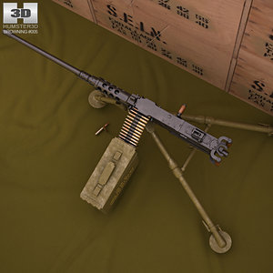 3d browning m2 m model