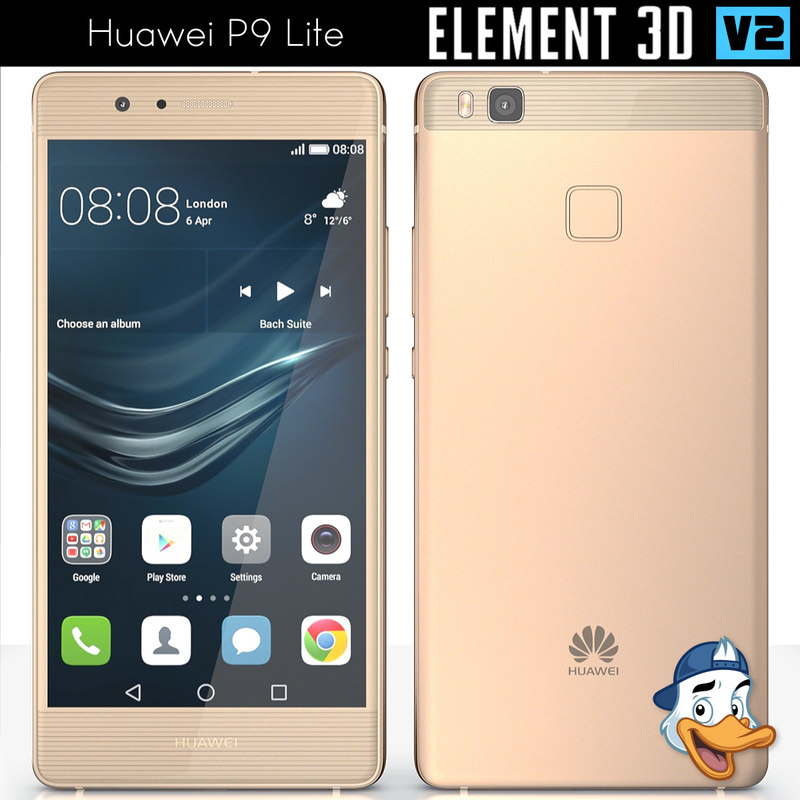 huawei p9 lite element 3d 3ds