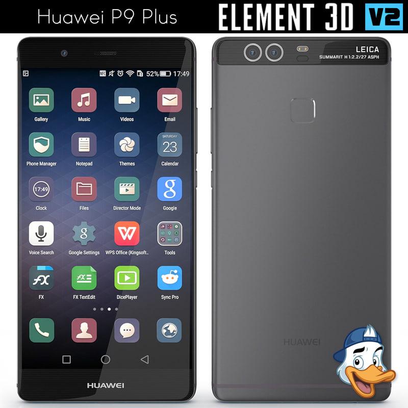 3d huawei p9 element