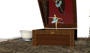 3d music box table